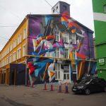 Креативное оформление фасадов зданий в стиле граффити