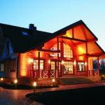 Принципы наружного освещения загородного дома